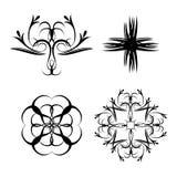 Orientalisk blom- form illustartion Arkivbilder