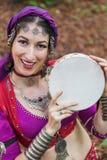 Orientalisk dansare Arkivfoto