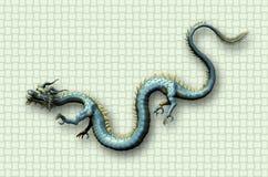 Orientalisk drake på vävbakgrund Royaltyfri Bild