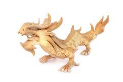 Orientalisk drakestatyett Arkivbilder
