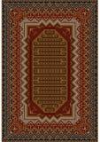 Orientalisk filt för tappning med beiga- och bruntskuggor Arkivfoton