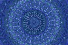 Orientalisk garnering i blått royaltyfri illustrationer