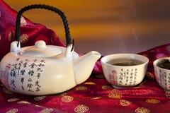 Orientalisk grön Tea Royaltyfri Bild
