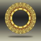 Orientalisk guld- prydnad för Grunge. Royaltyfri Bild