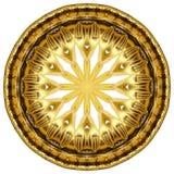 Orientalisk guld- prydnadtextur Royaltyfri Foto