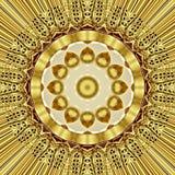 Orientalisk guld- prydnadtextur för Grunge Royaltyfri Fotografi