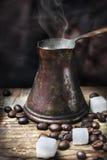 Orientalisk kaffekruka Fotografering för Bildbyråer