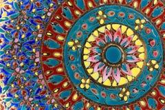 Orientalisk keramisk platta Fotografering för Bildbyråer