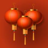 Orientalisk kinesisk lykta för nytt år royaltyfri illustrationer