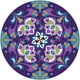 Orientalisk kinesisk traditionell modell för cirkel för lotusblommablomma Arkivfoton