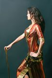 orientalisk kvinna för kabaretdansare Arkivfoto