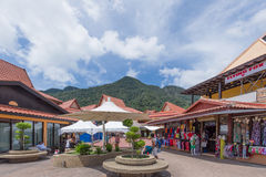 Orientalisk by, Langkawi, Malaysia Royaltyfri Fotografi