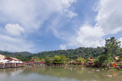 Orientalisk by, Langkawi, Malaysia Arkivbilder