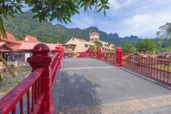 Orientalisk by, Langkawi, Malaysia Royaltyfri Foto