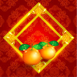 Orientalisk lycklig kinesisk beståndsdelvektor för nytt år Royaltyfri Fotografi