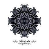 Orientalisk mandala Cirkelmodell med den abstrakta blomman Indier arabiska, islamiskt motiv också vektor för coreldrawillustratio Arkivfoto