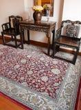 Orientalisk matta & etnisk peranakan dekor Arkivbild