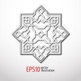 Orientalisk modell för vektor 3d med arabesques Tappningdesign i östlig stil Royaltyfria Bilder