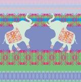 Orientalisk modell med elefanter Royaltyfria Bilder