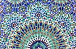 Orientalisk mosaik i Marocko Arkivbild