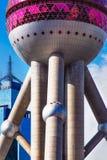orientalisk pärlemorfärg shanghai torntv Royaltyfri Bild