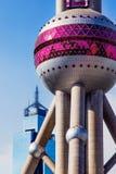 orientalisk pärlemorfärg shanghai torntv Arkivbilder