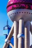 orientalisk pärlemorfärg shanghai torntv Fotografering för Bildbyråer