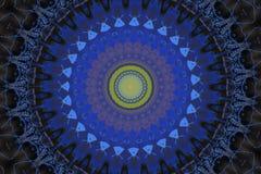orientalisk prydnad i blått royaltyfri illustrationer