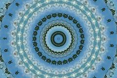 orientalisk prydnad i blått vektor illustrationer