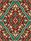 Orientalisk röd och turkosprydnad Royaltyfri Fotografi