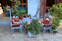 Orientalisk restaurang i Chefchaouen Royaltyfria Bilder