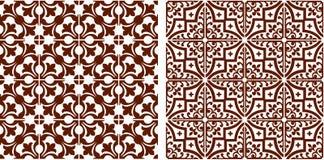 Orientalisk sömlös färg för brunt för diagramabstrakt begreppmodell Arkivbild