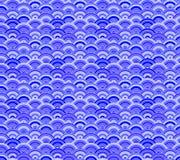 Orientalisk sömlös modell för vektor, havsvågor, blåttprydnadmall, kulör bakgrund royaltyfri illustrationer