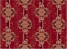 orientalisk seamless tegelplatta stock illustrationer