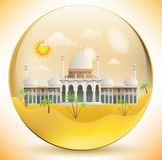 Orientalisk slott i den glass sfären Royaltyfria Bilder