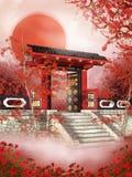 orientalisk soluppgång 2 Arkivbild