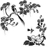 orientalisk stil stock illustrationer