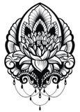 Orientalisk stil, blomma, lotusblomma Royaltyfria Bilder
