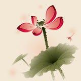 Orientalisk stil Lotus stock illustrationer