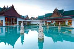 Orientalisk stilarkitektur i Thailand Royaltyfri Fotografi