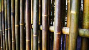 Orientalisk stilbambuvägg Fotografering för Bildbyråer