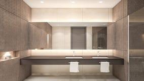 Orientalisk stiltolkning vattenklosett/3D Royaltyfria Foton