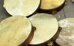 orientalisk tamburin Fotografering för Bildbyråer