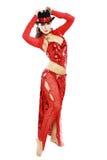 Orientalisk tangodansare Arkivbild