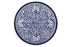 Orientalisk tunisisk platta arkivbilder