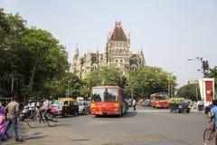 Orientaliska byggnader i Mumbai, Indien Royaltyfri Foto