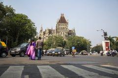 Orientaliska byggnader i Mumbai, Indien Royaltyfria Bilder