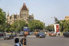 Orientaliska byggnader i Mumbai, Indien Arkivfoton