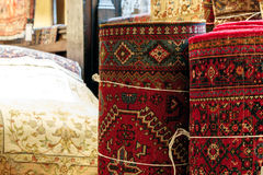 Orientaliska filtar och mattor Arkivbild