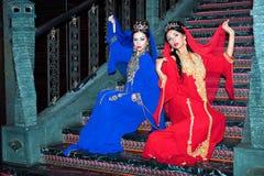 Orientaliska flickor arkivbild